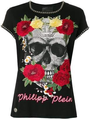 Philipp Plein Yellow Roses T-shirt