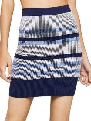 BCBGeneration Striped Knit Mini Pencil Skirt