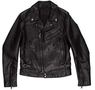 Diesel Black Gold Leather Eagle Jacket