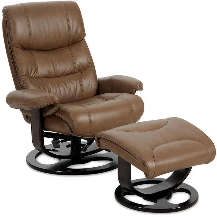 Renegade Leather Recliner with Ottoman