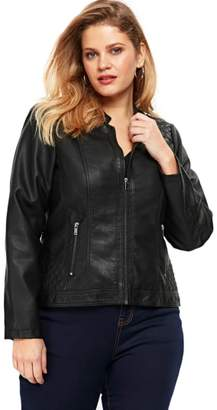 Evans Faux Leather Biker Jacket