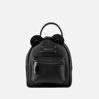 Grafea Women's Mini Zippy Bear Backpack - Black