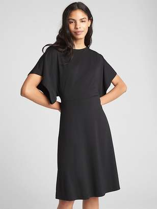 Gap Lace-Up Back Dress in Ponte
