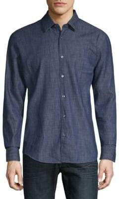 HUGO BOSS Reid Denim Button-Down Shirt