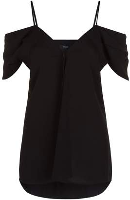 Theory Off-The-Shoulder Silk Blouse