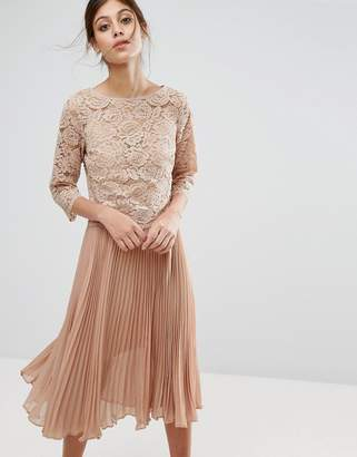 Oasis Lace Pleated Dress $118 thestylecure.com