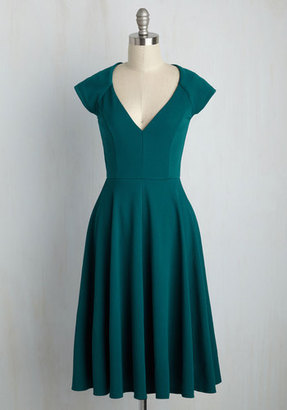 Coco Love Name the Date A-Line Dress in Teal $59.99 thestylecure.com