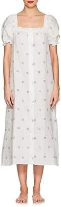 SLEEPER Women's Floral Linen Midi-Dress