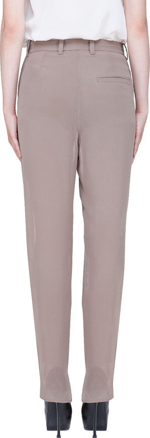 3.1 Phillip Lim Taupe Tapered Pleated Trousers