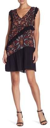 BCBGeneration Ruffle Floral Print Dress