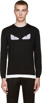 Fendi Black Monster Eyes Sweater $650 thestylecure.com