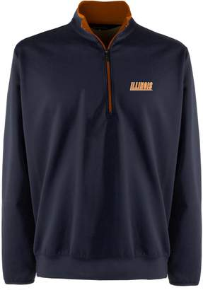 Antigua Men's Illinois Fighting Illini 1/4-Zip Leader Pullover