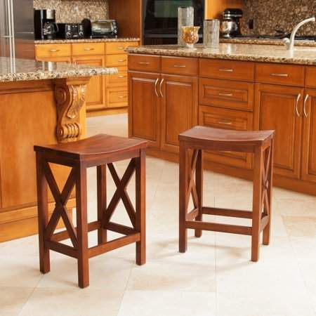 Noble House Miguel Wood Counter Stools, Set of 2