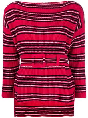 Fendi ribbed belted sweater