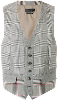 Alexander McQueen fitted suiting panel waistcoat