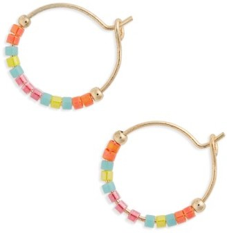 Women's Topshop Small Seed Bead Hoop Earrings $12 thestylecure.com