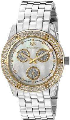 Mother of Pearl Wellington Mataura Women's Quartz Watch with Dial Analogue Display and Silver Stainless Steel Bracelet WN507-181B