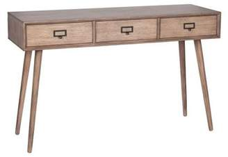 Pacific Desert Brown Pine Wood 3 Drawer Console K/d