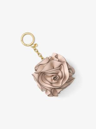 MICHAEL Michael Kors Origami Rose Leather Key Chain
