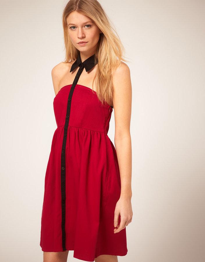 Vero Moda Contrast Collar Harness Dress