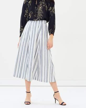 Striped Flared Summer Skirt
