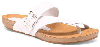 Made In Spain Leather Footbed Sandals
