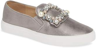 Karl Lagerfeld Paris Evelyn Imitation Pearl Embellished Sneaker
