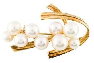 Mikimoto 14K Pearl Brooch