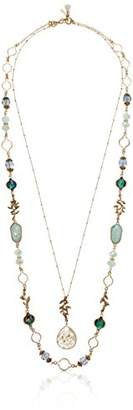 """lonna & lilly Worn-Gold 34"""" Adjustable Necklace"""