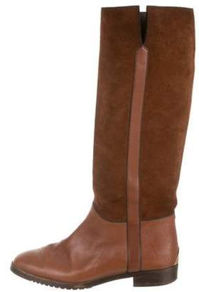 Gucci Leather & Suede Knee-High Boots Leather & Suede Knee-High Boots