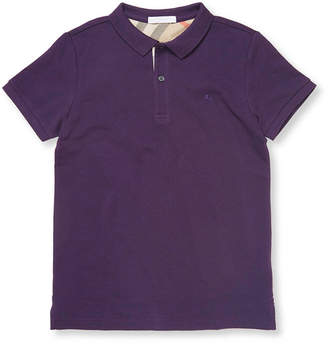 Burberry Textured Logo Polo