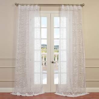 Eff EFF 1-Panel Zara Patterned Sheer Window Curtain