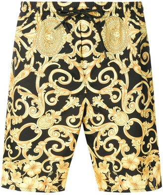 Versace baroque print swim shorts