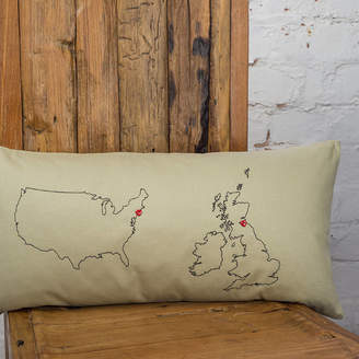 Thread Squirrel Personalised Maps Cushion Cover