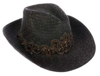 Eric Javits Gimp-Embellished Woven Hat