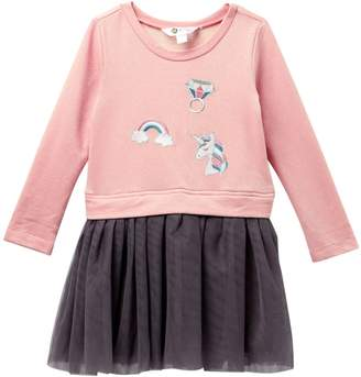 Petit Lem Unicorn Knit Dress (Toddler & Little Girls)