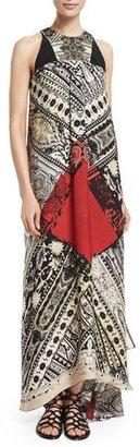 Etro Sleeveless Bandana-Print Embellished Dress, Pine $3,915 thestylecure.com