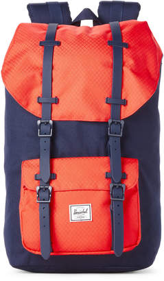 Herschel Coral & Navy Little America Backpack