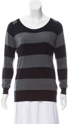 Joie Striped Elbow Patch Sweater