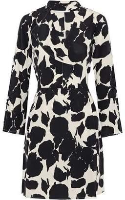 Derek Lam 10 Crosby Ruffle-Trimmed Printed Silk Mini Dress