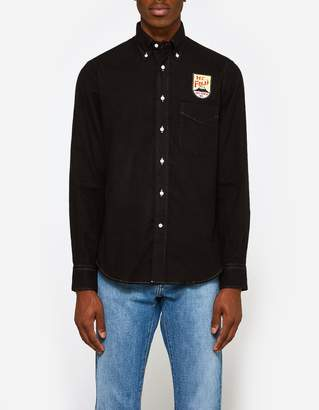 Gitman Brothers Flannel Shirt in Black