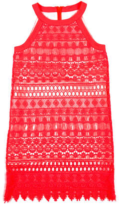 Appaman Girls' Lily Neon Coral Dress