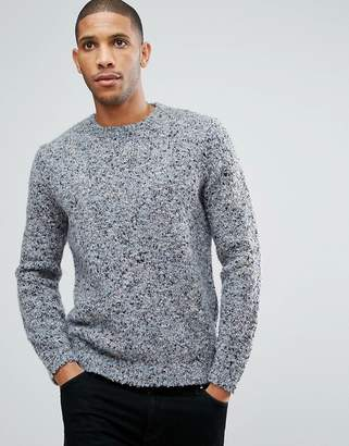Asos DESIGN Heavyweight Textured Sweater In Pale Blue