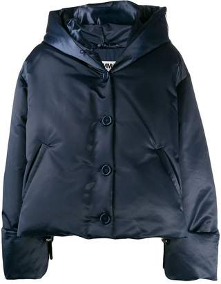 MM6 MAISON MARGIELA cropped padded hood jacket