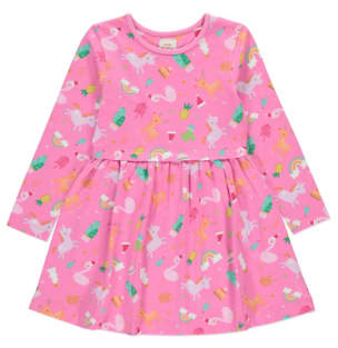 George Christmas Pink Unicorn Dress