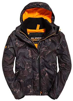 Superdry Men's Arctic Hooded Print Pop Zip SD-Windcheater Jacket