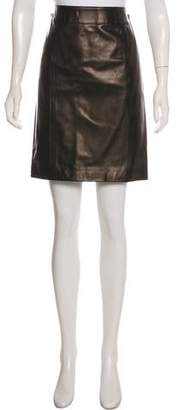 Gucci Leather Pencil Skirt