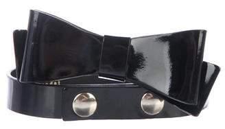 Alice + Olivia Patent Leather Bow Belt