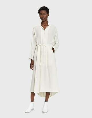 Black Crane Classy Linen Dress in Cream