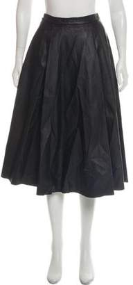 Alice + Olivia Leather Midi Skirt